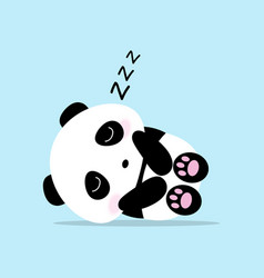 cute panda cartoon sleep concept vector image