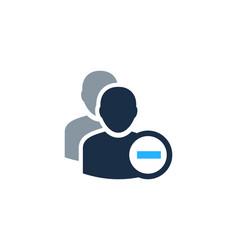 delete user logo icon design vector image