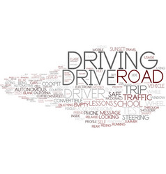 Drive word cloud concept vector
