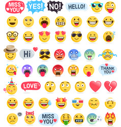 emoji emoticons symbols icons set vector image