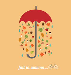 fall in autumn vector image
