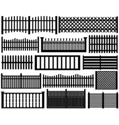 Fence set isolated vector