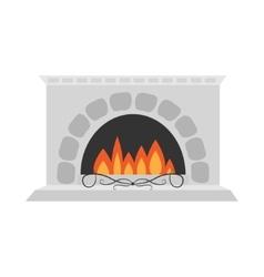 Fireplace Isolated Flat design White background vector image