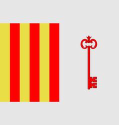 Flag of barcelonnette in alpes de haute provence vector