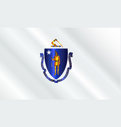 Flag of massachusetts gloss vector