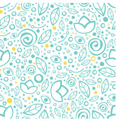 floral seamless pattern yoga studio design vector image