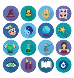 Fortune Teller Icons Flat vector