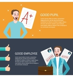 Good pupil employee best get A appreciation thumbs vector