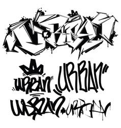 Graffiti Tags - writing vector image