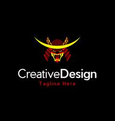 Head ronin creative logo vector