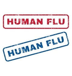 Human Flu Rubber Stamps vector