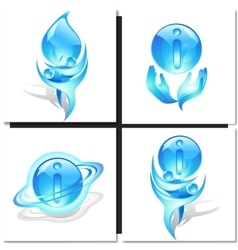 Icon with blue dancers and ball vector