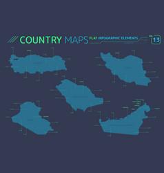 Iraq saudi arabia iran united arab emirates and vector
