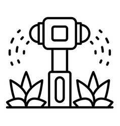 Irrigation sprinkler icon outline style vector