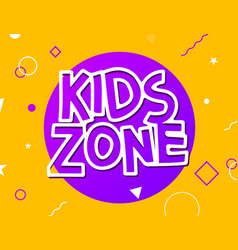Kids zone game banner design background vector