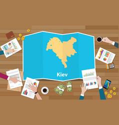 Kiev ukraine capital city region economy growth vector