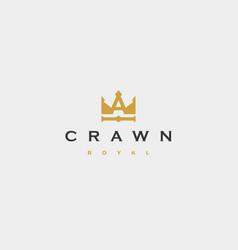 Letter a king royal logo design vector