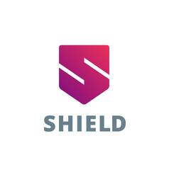 Letter s shield logo icon design template elements vector