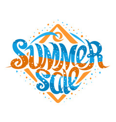 lettering summer sale vector image