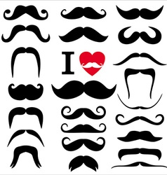 Moustaches set vector image