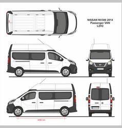 Nissan nv300 passenger van l2h2 2014 vector