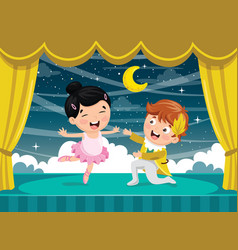 of children dancing vector image