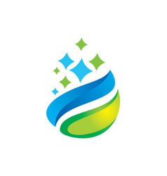 organic droplet logo vector image