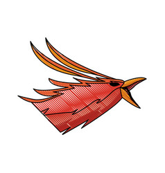 Phoenix head legend creature beast image vector