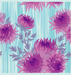 pink bright autumn flowers seamless pattern vector image