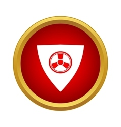 Radiation shield icon in simple style vector image