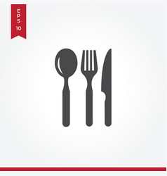 restaurant eating tools icon in modern style for vector image