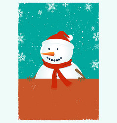 santa snowman vector image