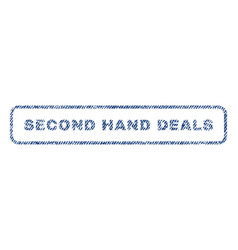 Second hand deals textile stamp vector
