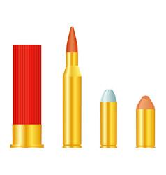 set bullets vector image