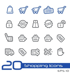 Shopping Outline Series vector image vector image