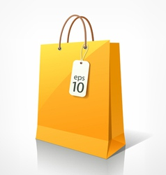 Shopping yellow bag vector