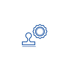 stamps line icon concept stamps flat vector image
