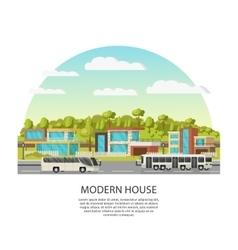 Suburban Houses Concept vector