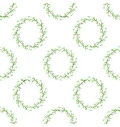Summer Green Seamless Leaves Pattern vector