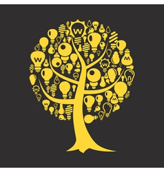 Tree a bulb vector image