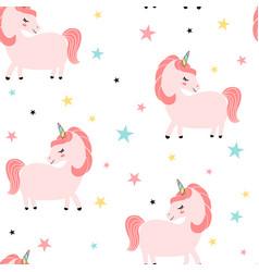 unicorn seamless design vector image