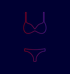 women wimsuit sign line icon with vector image