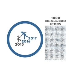 Years Guys Help Rounded Icon with 1000 Bonus Icons vector image
