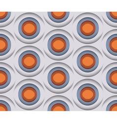 3D Circles Seamless Pattern vector image