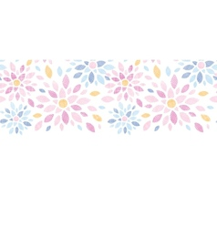 Abstract textile colorful flowers horizontal vector image vector image