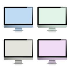 Computer displays vector image vector image