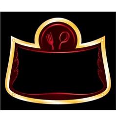 frame for restaurant vector image