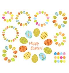 frames of color easter eggs - set vector image vector image