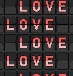 Love Flip Board vector image vector image