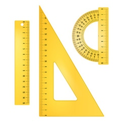 Ruler instruments vector image